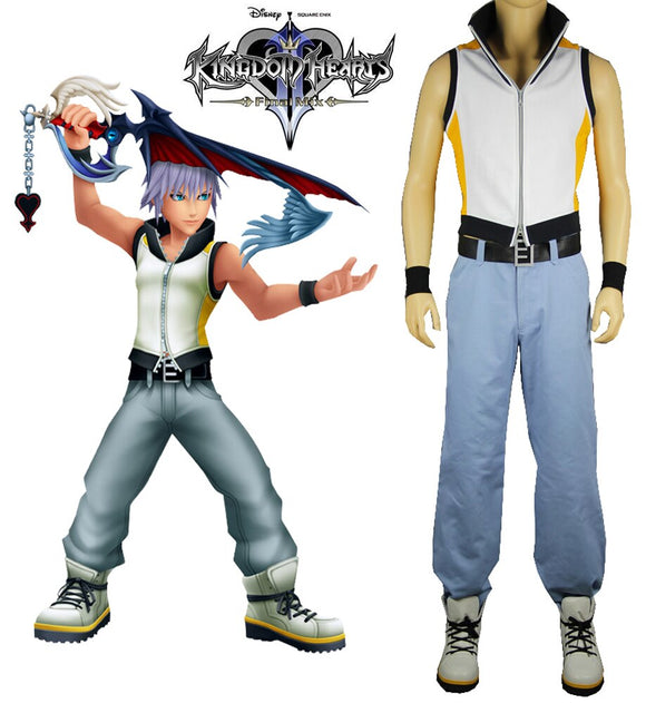 Kingdom Hearts 3D Dream Drop Distance Riku Cosplay Costume