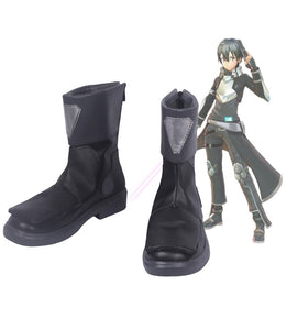 Sword Art Online Fatal Bullet Kirito Cosplay Boots Black Shoes Custom Made
