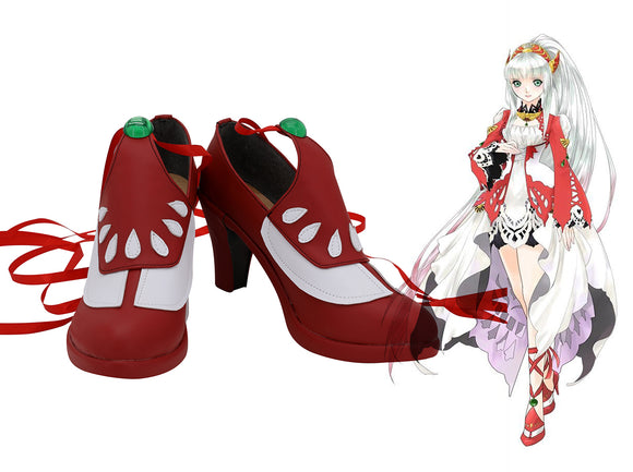 Tales of Zestiria Lailah Cosplay Boots Red High Heel Shoes Custom Made