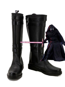 Star Wars: The Force Awakens Kylo Ren Cosplay Boots Black Shoes Custom Made