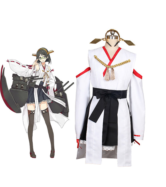 Kantai Collection Kancolle Kirishima Cosplay Costume Custom Made