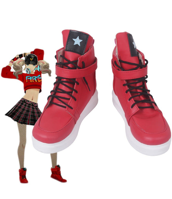 P5D Persona 5 Dancing in Starlight Anne Takamaki Cosplay Boots Red Shoes Custom Made