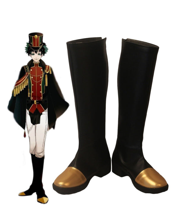 My Hero Academia Deku Izuku Midoriya Military Cosplay Boots Black Shoes Boku no Hero Academia Shoes Cosplay Custom Made