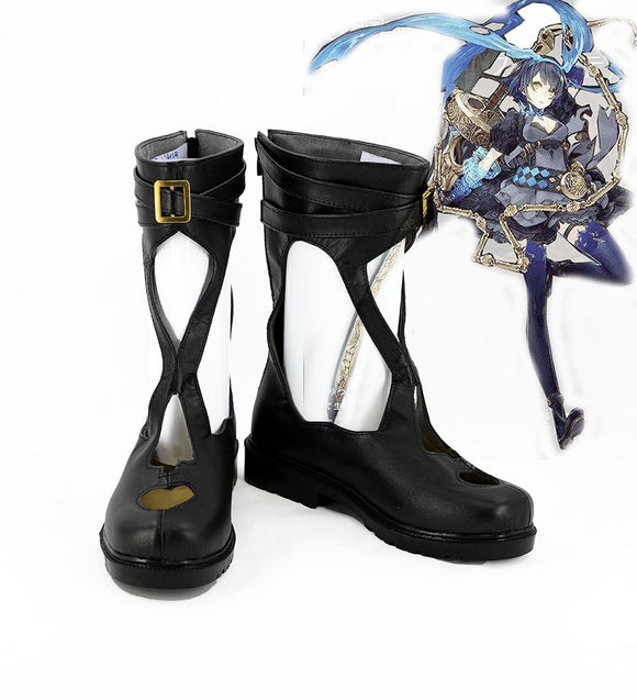 SINoALICE Alice Cosplay Boots Black Shoes Sandals Custom Made