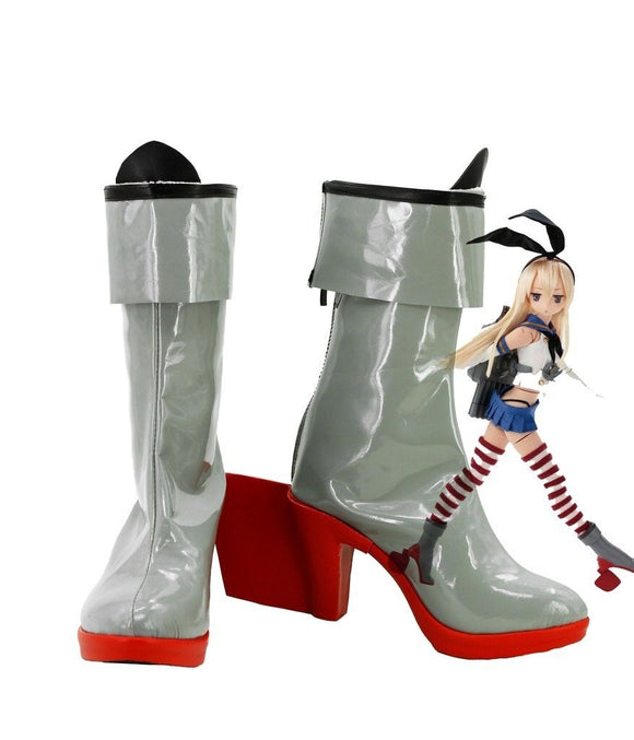 Kantai Collection Shimakaze Cosplay Boots High Heel Shoes Custom Made