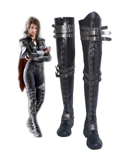 Kingsglaive Final Fantasy XV Crowe Altius Cosplay Boots Black Shoes Custom Made