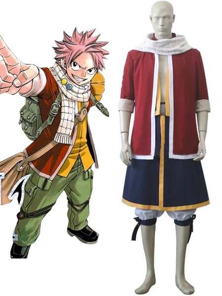 Fairy Tail Natsu Dragneel Cosplay Costume Custom Made