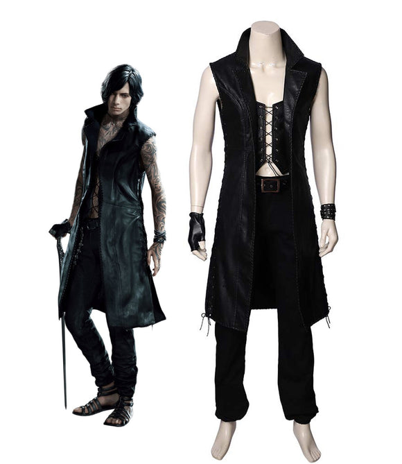 Devil May Cry5 V Cosplay Costume DMC5 V Cosplay Full Set Custom Made Carnival Halloween Costume for Unisex