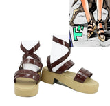 JOJO'S BIZARRE ADVENTURE 4 Sugimoto Reimi Cosplay Shoes Brown Sandals Custom Made