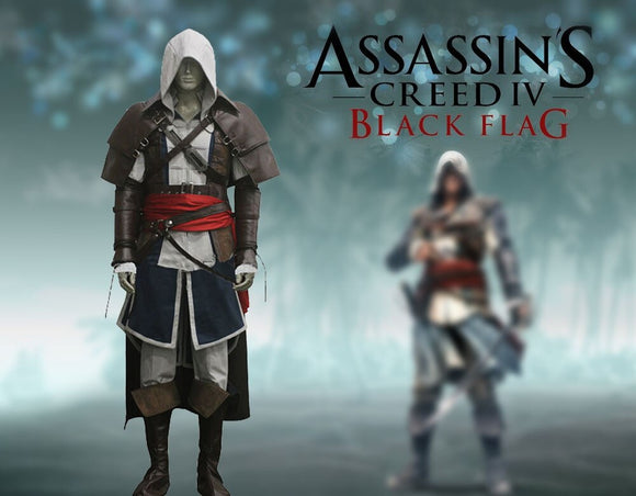 Assassin's Creed IV Edward Kenway Black Flag Cosplay Costume Custom Made Any Size