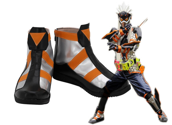 Kamen Rider Fuma Cosplay Boots Masked Rider Fuma Leather Shoes Cosplay Custom Made Any Size
