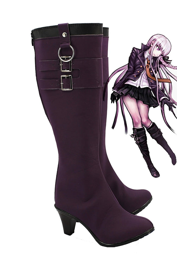 Danganronpa: Trigger Happy Havoc Kyoko Kirigiri Cosplay Boots Purple Shoes High Heel Custom Made