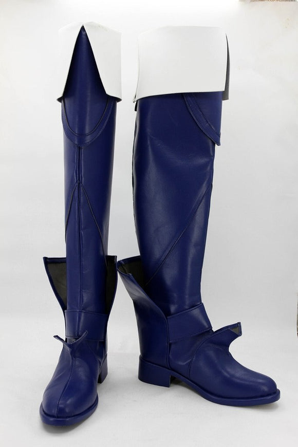 Fire Emblem: Awakening Lucina Cosplay Boots Blue Shoes Custom Made