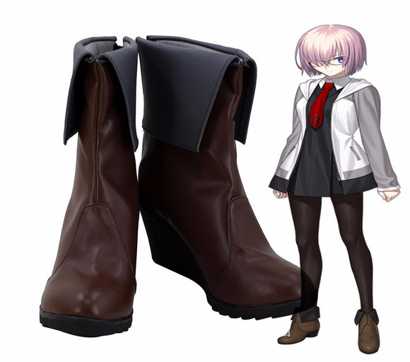 FGO Fate Grand Order Mashu Kyrielight Cosplay Boots Wedge Heel Shoes Custom Made