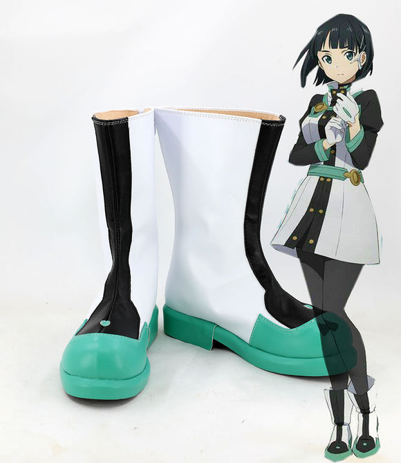 Sword Art Online Film Kirigaya Suguha Cosplay Boots Leather Shoes Custom Made