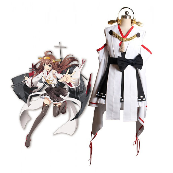Kantai Collection Kancolle Kongou Cosplay Costume Custom Made