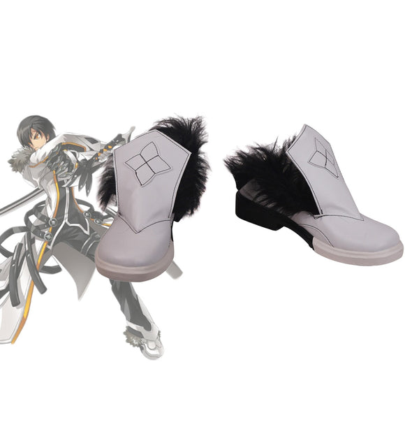 ELSWORD Raven Cosplay Shoes Custom Made Boots for Boys and Girls Halloween Cosplay Shoes