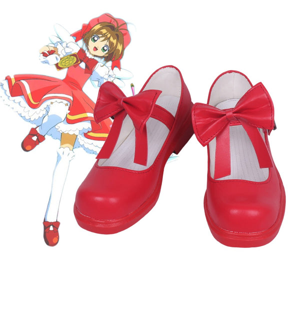 Cardcaptor Sakura Clear Card Sakura Cosplay Shoes Red Boots Custom Made