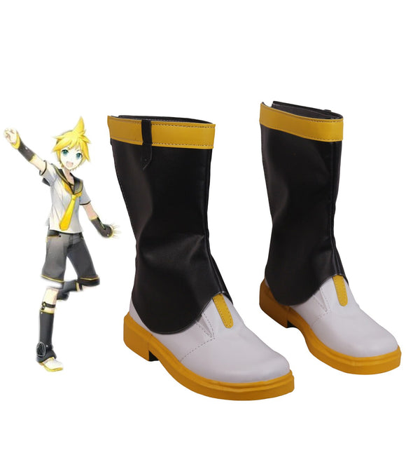 Vocaloid Kagamine Len Cosplay Boots Custom Made Shoes Any Size