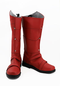 X-men Max Eisenhardt Magneto Superhero Cosplay Boots Red Shoes Custom Made