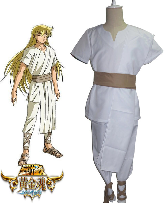 Saint Seiya:Soul of Gold Gold Saints Virgo Shaka Cosplay Costume