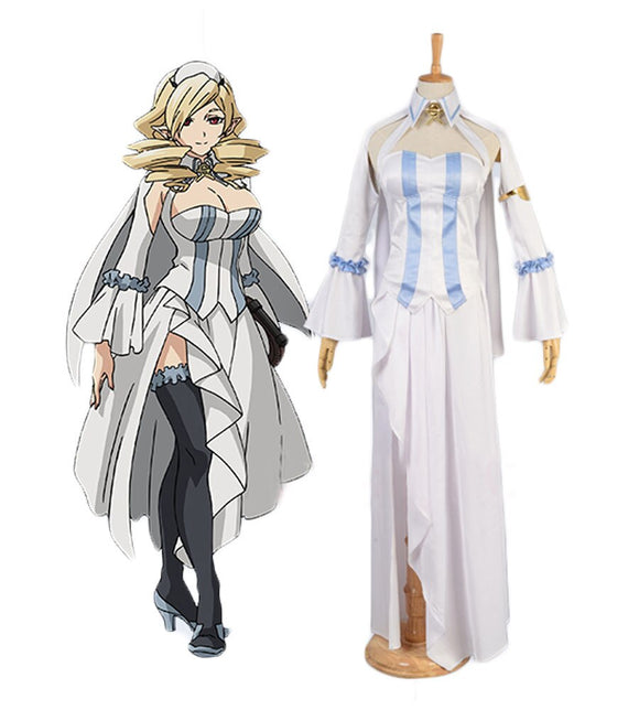 Seraph of the End Horn Skuld Dress Cosplay Costume Custom Made