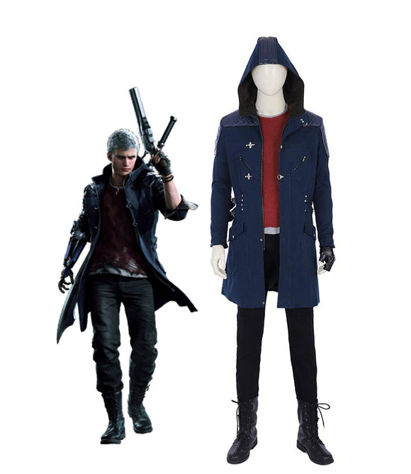 DMC5 Devil May Cry 5 Nero Cosplay Costume Jacket T shirt Pants Full Set Custom Made Any Size for Men and Women