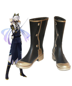 Touken Ranbu Nakigitsune Cosplay Boots Leather Shoes Custom Made