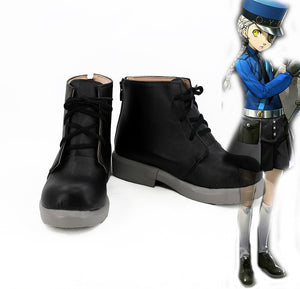 Persona 5 Justine and Caroline Cosplay Boots Black Shoes Custom Made