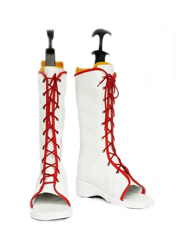 Naruto Haruno Sakura Cosplay Boots White Shoes Custom Made