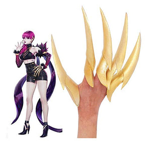 League of Legends LOL KDA Evelynn Cosplay Props EVA Nail Paw Gloves Cosplay Accessories for Unisex