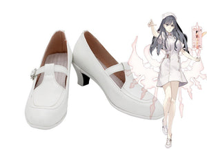 SINoALICE Snow White Cosplay Shoes White Boots High Heel Shoes Custom Made