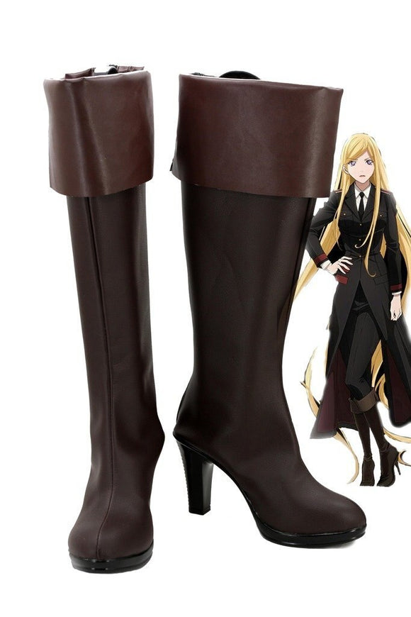 Noragami ARAGOTO Bishamon Cosplay Boots Brown Shoes Custom Made