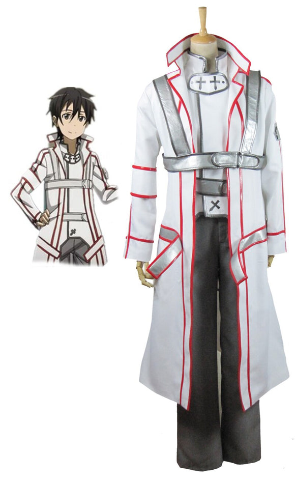 Sword Art Online Knights of the Blood Kirito Cosplay Costume Custom Made