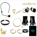 League of Legends LOL KDA Akali Cosplay Costume LOL KDA Outfit Coat Pants Gloves Bag Mask Full Set