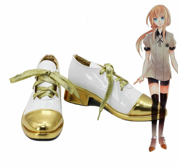 Touken Ranbu Online Midare Toushirou Cosplay Shoes White Boots Custom Made
