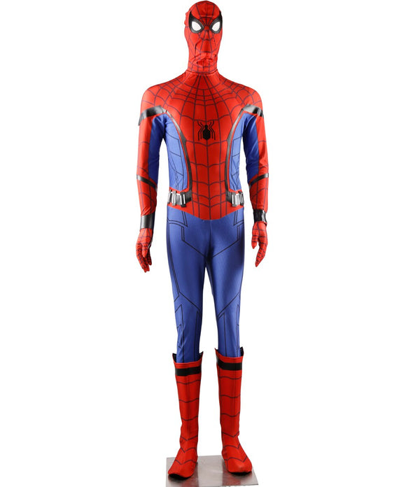 Spider-Man:Homecoming Spiderman Peter Parker Cosplay Costume Full Set Shoes Included Custom Made