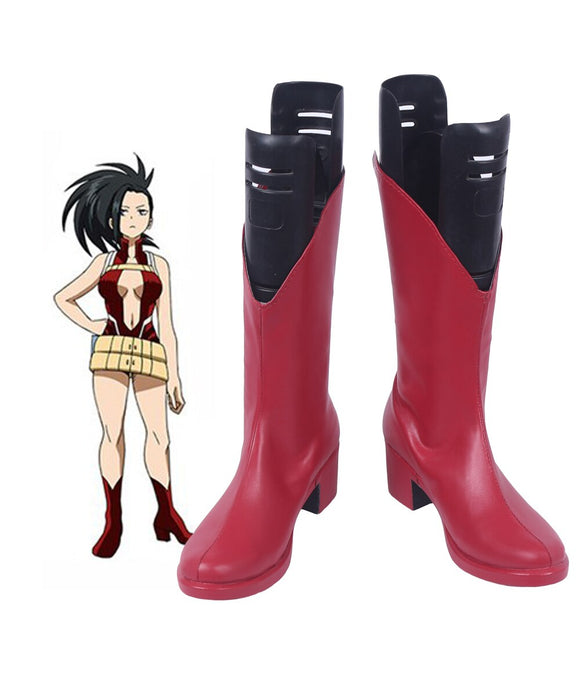 My Hero Academia Momo Yaoyorozu Cosplay Boots Boku no Hero Academia Yaoyorozu Momo Red Shoes Cosplay