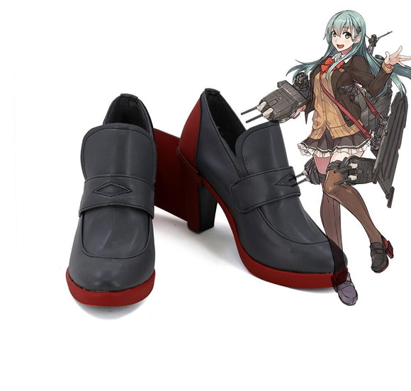 Kantai Collection KanColle Dakimakura Suzuya Cosplay Boots Leather Shoes Custom Made