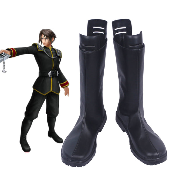 Final Fantasy 8 Squall Leonhart Cosplay Boots Black Shoes Custom Made