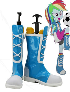 My Little Pony Equestria Girls Rainbow Rocks Rainbow Dash Cosplay Shoes Blue Boots Custom Made