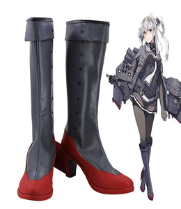 Kantai Collection Kancolle Suzutsuki Cosplay Boots High Heel Shoes Custom Made Any Size