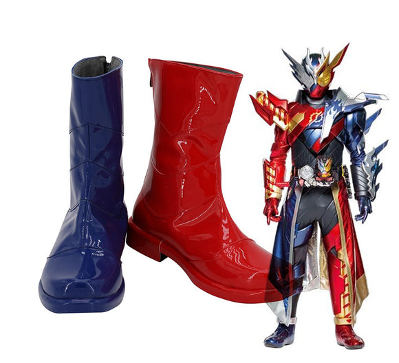 Kamen Rider Build Trial Form Cosplay Boots Blue Red Shoes Masked Rider Build Boots Cosplay Custom Made Any Size