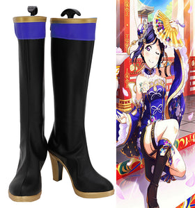 Love Live Sunshine Aqours Tsushima Yoshiko Cheongsam Awakening Cosplay Boots High Heel Shoes