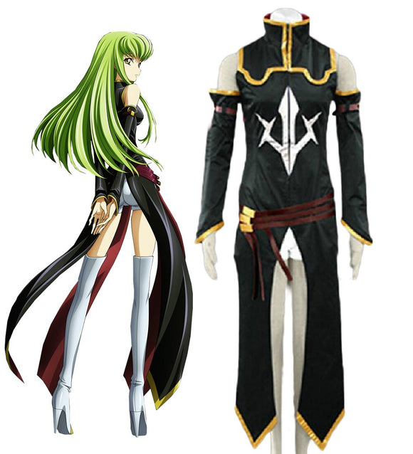 Code Geass C.C. Black Uniform Cosplay Costume Custom Made