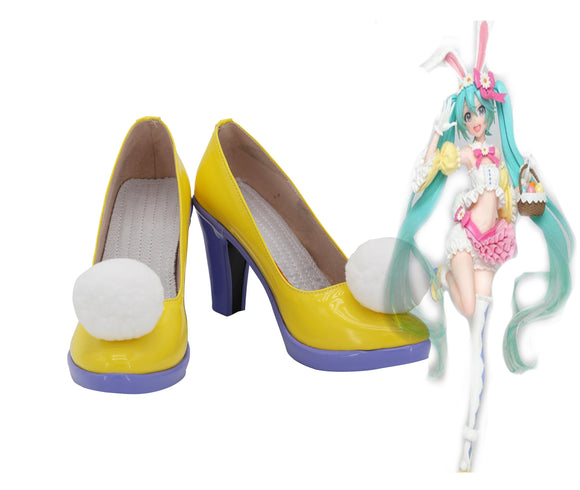 Vocaloid New The Four Season Hatsune Miku Cosplay Shoes Yellow Boots Halloween Party Cosplay Costume Accessory