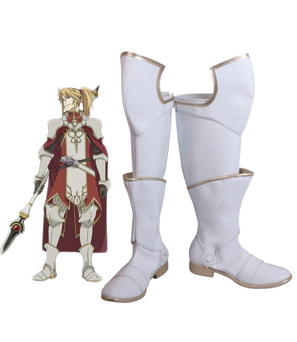 The Rising of the Shield Hero Motoyasu Kitamura Cosplay Boots White Shoes Custom Made