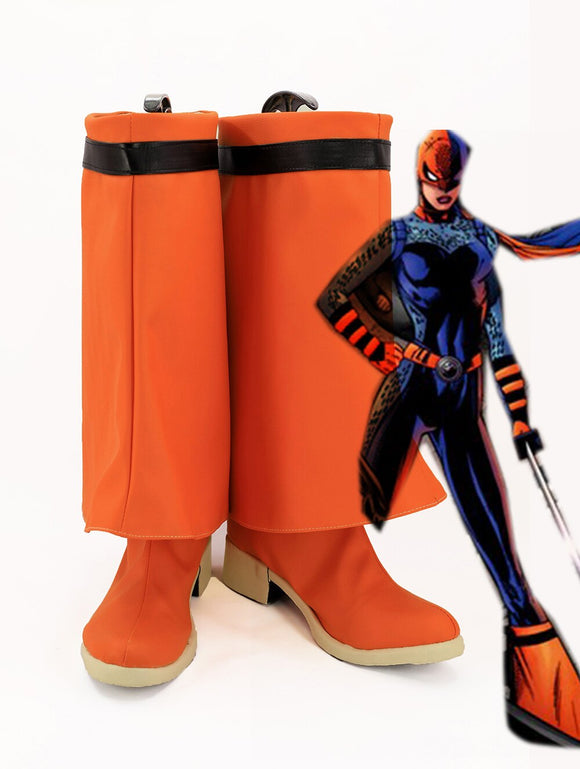DC Superhero Girls Ravager Cosplay Boots Orange Shoes Custom Made