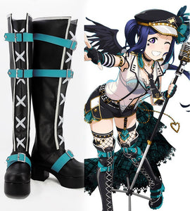 Love Live! Sunshine! Aqours Kanan Matsuura Cosplay Boots Black Shoes Custom Made