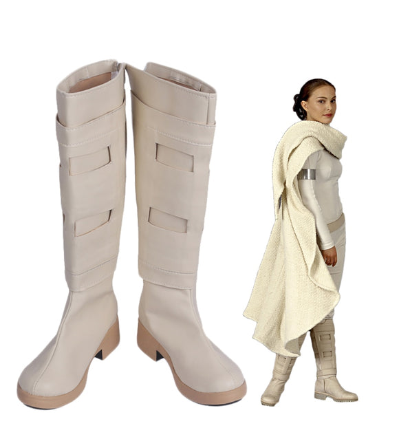 Star Wars 2 Padme Amidala Queen Amidala Cosplay Boots Leather Shoes Custom Made